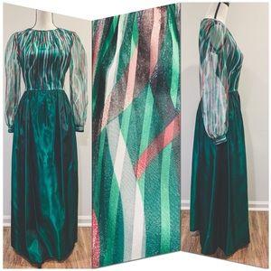 Vtg 70's Christmas Gown
